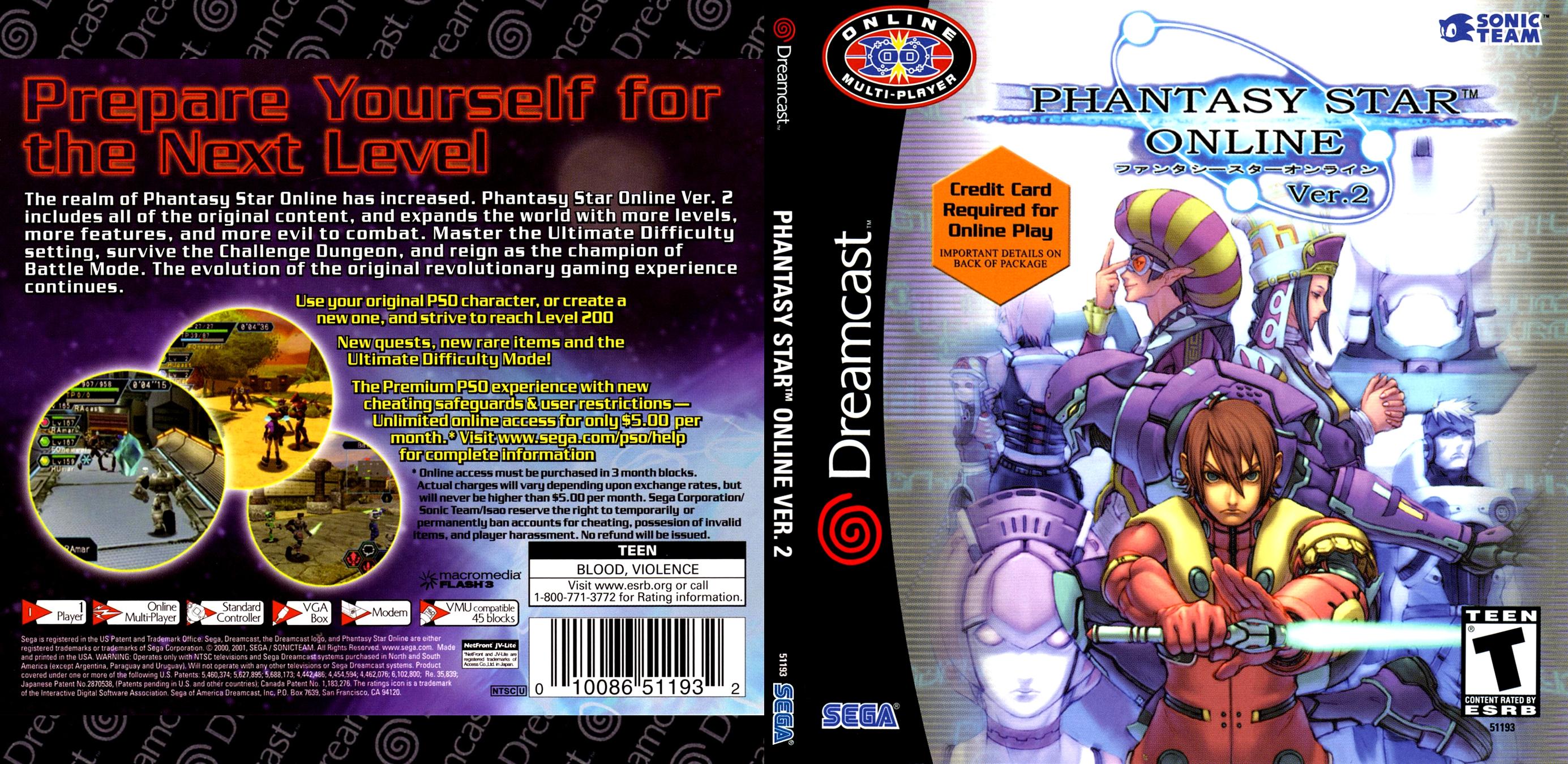 Phantasy Star Online Ver  2 (USA)(En,Fr,De,Es,Jp) ISO < DC